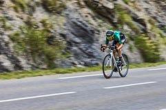 Der Radfahrer David Veilleux Stockbild