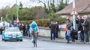 Der Radfahrer Diego Rosa - Paris-nettes 2016 Lizenzfreies Stockbild