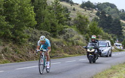 Der Radfahrer Enrico Gasparotto Lizenzfreie Stockfotos