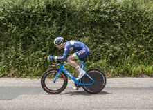 Der Radfahrer Frederik Backaert - Criterium du Dauphine 2017 Stockbild