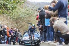 Der Radfahrer Ian Boswell - Paris-nettes 2016 Stockbild