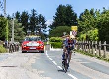 Der Radfahrer Janez Brajkovic - Criterium du Dauphine 2017 lizenzfreies stockfoto
