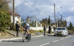 Der Radfahrer Jay Robert Thomson - Paris-nettes 2016 Stockfoto