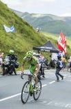 Der Radfahrer Jean-Marc Marino auf Col. de Peyresourde - bereisen Sie de Fra Stockfotografie