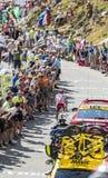 Der Radfahrer Joaquim Rodriguez auf Col. du Glandon - Tour de France Stockbilder