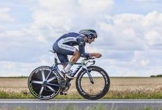 Der Radfahrer Juan Jose Cobo Acebo Lizenzfreies Stockfoto