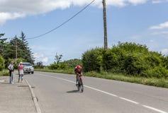 Der Radfahrer Kristijan Durasek- Criterium du Dauphine 2017 Lizenzfreie Stockfotografie