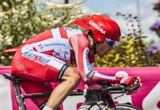 Der Radfahrer Luca Paolini Lizenzfreie Stockfotos