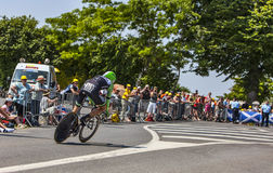 Der Radfahrer Maarten Wynants Stockfotografie