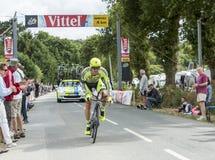 Der Radfahrer Matteo Tosatto - Team Time Trial 2015 Stockbilder