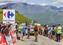 Der Radfahrer Mikel Astarloza Lizenzfreies Stockfoto