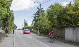 Der Radfahrer Nacer Bouhanni - Criterium du Dauphine 2017 Lizenzfreies Stockfoto
