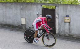 Der Radfahrer Nacer Bouhanni - Criterium du Dauphine 2017 Stockbild