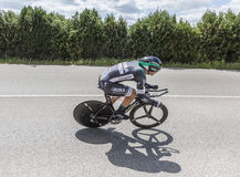 Der Radfahrer Pascal Ackermann - Criterium du Dauphine 2017 Lizenzfreie Stockfotografie