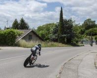 Der Radfahrer Pascal Ackermann - Criterium du Dauphine 2017 Lizenzfreies Stockbild