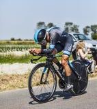 Der Radfahrer Richie Porte Stockfotografie