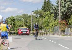 Der Radfahrer Roman Kreuziger - Criterium du Dauphine 2017 Lizenzfreie Stockfotografie