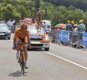 Der Radfahrer Ruben Perez Moreno Lizenzfreie Stockfotos