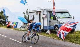 Der Radfahrer Ryder Hesjedal Stockfotos