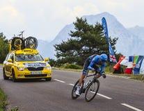 Der Radfahrer Ryder Hesjedal Lizenzfreies Stockbild