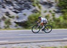 Der Radfahrer Samuel Dumoulin Stockbild