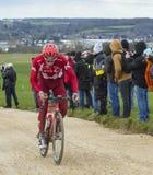 Der Radfahrer Simon Spilak - Paris-nettes 2016 Lizenzfreies Stockfoto