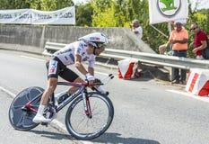 Der Radfahrer Thibaut Pinot Lizenzfreie Stockfotografie