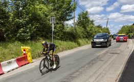 Der Radfahrer Thomas Voeckler - Criterium du Dauphine 2017 Stockfotos