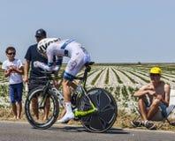 Der Radfahrer Tom Dumoulin Lizenzfreies Stockfoto