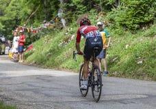 Der Radfahrer Tony Gallopin - Tour de France 2017 lizenzfreie stockfotos