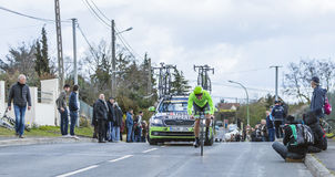 Der Radfahrer Wouter Wippert - Paris-nettes 2016 Lizenzfreie Stockfotografie