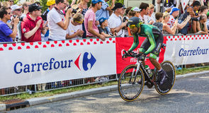 Der Radfahrer Yohann Gene - Tour de France 2015 Lizenzfreies Stockfoto