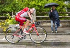 Der Radfahrer Yuri Trofimov Stockbilder