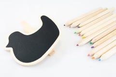 Der Rahmen als Ente mit Farbe-penci Lizenzfreies Stockfoto