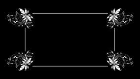Der Rahmen des Textdialogfensters mit der Animation von Anlagen und von Mustern lizenzfreie abbildung