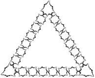 Der Rahmen in Form eines Dreiecks gemacht von den dekorativen Elementen der schwarzen Farbe Lizenzfreies Stockbild