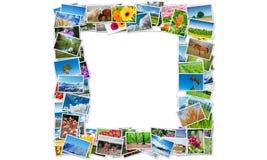 Der Rahmen gemacht von den verschiedenen Naturfotos Lizenzfreie Stockfotos