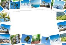 Der Rahmen gemacht von den verschiedenen Naturfotos Stockfoto