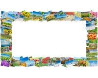 Der Rahmen gemacht von den verschiedenen Naturfotos Lizenzfreie Stockbilder