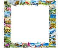 Der Rahmen gemacht von den verschiedenen Naturfotos Lizenzfreie Stockfotografie