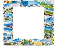 Der Rahmen gemacht von den verschiedenen Naturfotos Lizenzfreies Stockfoto