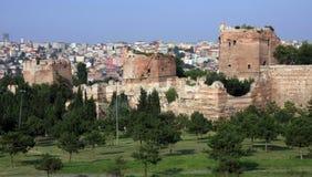 Der Rampart von Istanbul Stockfotos
