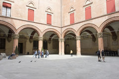 Der Rathauspalast im Bologna, Italien lizenzfreie stockfotos
