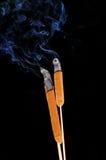Der Rauch von den Schilfen Lizenzfreie Stockbilder
