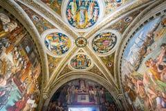 Der Raum des Feuers im Borgo im Vatikan-Museum Stockbild