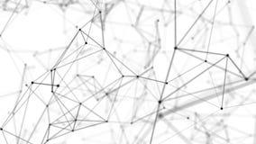 Der Raum von verschachtelnden Schwarzweiss-Linien stock video