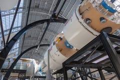 Der Raumpavillon in der Gesamt-Russland-Ausstellungs-Mitte Lizenzfreies Stockfoto