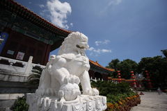 Der rebuilded yuanming Palast Stockbild