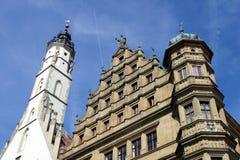 der średniowieczny ob rothenburg tauber miasteczko Fotografia Stock