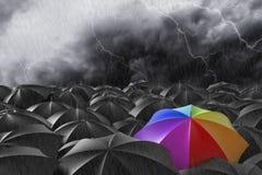 Der Regenbogen stock abbildung